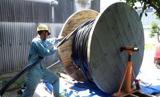 高圧ケーブル敷設